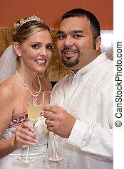 Happy Couple Toasting