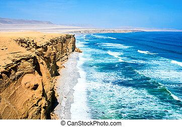 Landscape in Paracas National Park Reserve, Peru - Landscape...