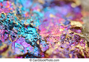 mineral, Pavo real, mineral, también, bornite, sulfide,...