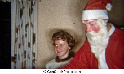 1953: Creepiest Santa Claus mask - Original vintage 8mm film...