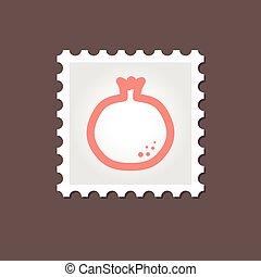 Garnet stamp. Outline vector illustration, eps 10