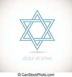 DAVID STAR - Star of David logo concept Vector illustration,...