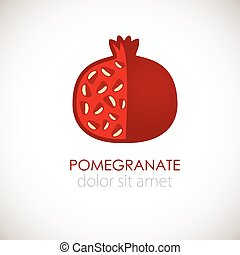 POMEGRANATE - Pomegranate logo concept for fruit shop,...