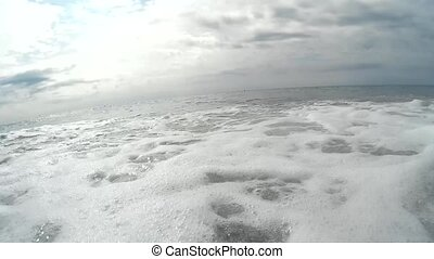 Sea waves - Point of view clip of the sea waves on the...