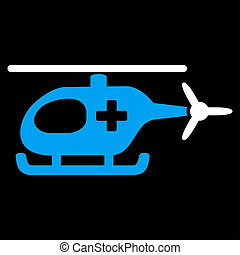 Emergency Helicopter Icon - Emergency Helicopter raster...
