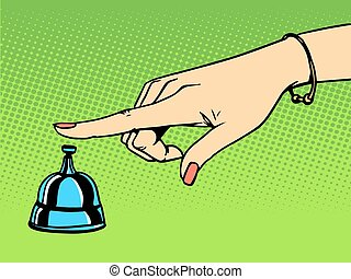 Call the Concierge woman hand bell