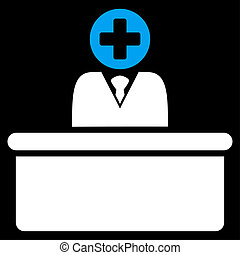 Medical Bureaucrat Icon - Medical Bureaucrat raster icon....