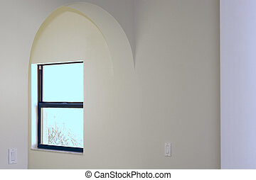 arched entry with window