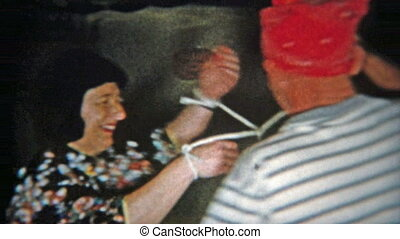 1956: Couple playing twisted rope - Original vintage 8mm...