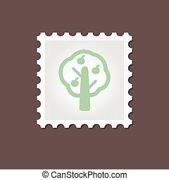 Fruit tree stamp Outline vector illustration, eps 10