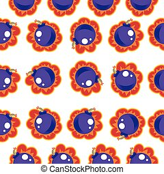 Bomb Seamless Pattern. Vector Illustration Background