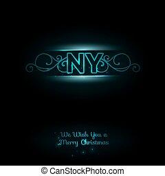 NY logo Dark background Elegant blue font New york logo New...