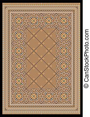 Ornament in light brown  for rug