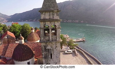 Flying over the church in Kotor - Flying over the old church...