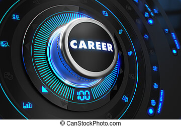 Career Controller on Black Control Console. - Career...