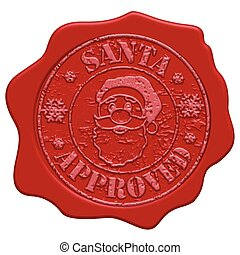 Santa approved wax seal - Santa approved red wax seal...