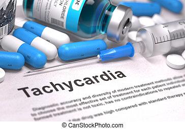 Diagnosis - Tachycardia. Medical Concept. 3D Render. -...