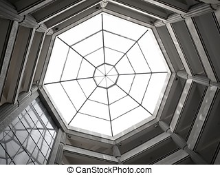 Octagon Skylight - A dome in the shape of an octagon with a...