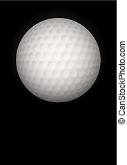 Dark Background of golf ball Vector Illustration - Dark...
