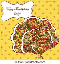 Thankgiving-day-backgroundeps - Vector thanksgiving day card...