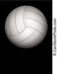 Dark Background of volleyball ball Vector Illustration -...