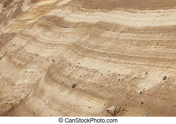 Ground layers with rocks in perspective. Warm tone....
