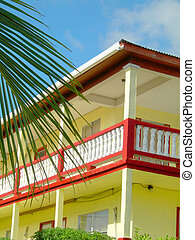 typical architecture caribbean island bequia st vincent -...