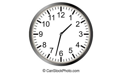 Loopable video animation of timelapse of clock - 4K Loopable...