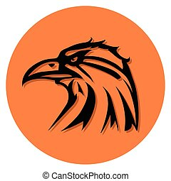 bird symbol - this is a vector illustration of eagle symbol
