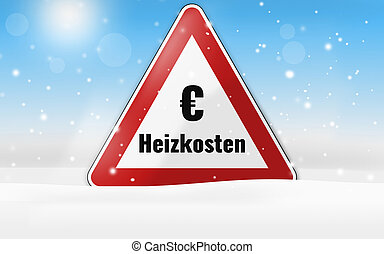 german language for heating costs