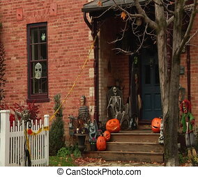 Halloween styled and decorated house