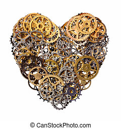 Mechanical heart - Isolated objects: heart shape made of...