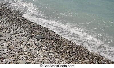 beach waves most beautiful pebble Mediterranean Sea