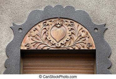 Architecture detail in Subotica, Serbia - Architecture...