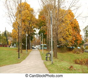 Alley and exit from the park - Richmond Hill Park,Ontario,...