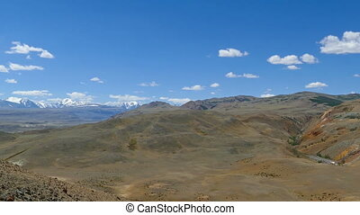Landscape in the Altai Mountains or Mars valley - Landscape...