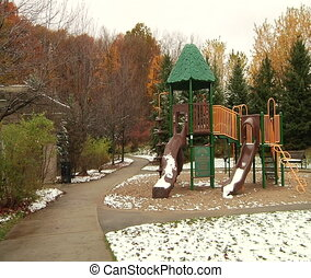 Playground in the park - Richmond Hill Park,Ontario, Canada