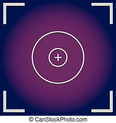 Camera, viewfinder background with cross hair, target mark
