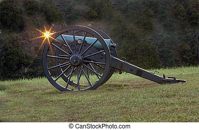 Canon side view with star burst - Early morning as a cannon...