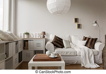 Solid white furniture - Image of solid and functional white...