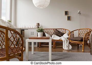 Wicker furniture set - Photo of decorative wicker furniture...