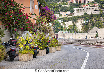 Waterfront street in Villefranche-sur-Mer - Waterfront...