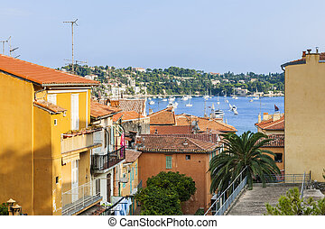 Rooftops in Villefranche-sur-Mer - View of colorful rooftops...