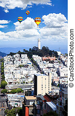 The Coit Tower in San Francisco