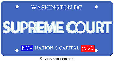 Imitation Washington DC license plate Supreme Court