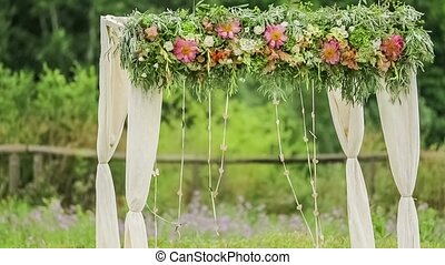 Wedding Arch At Nature