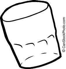 Empty Drinking Glass Outline - Single isolated empty cartoon...