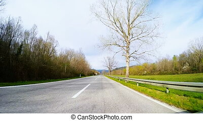 Fast Car driving through