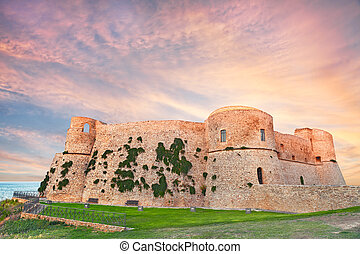 Aragonese Castle in Ortona, Abruzzo, Italy - the old castle...