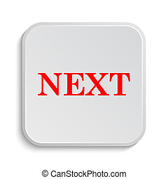 Next icon. Internet button on white background.
